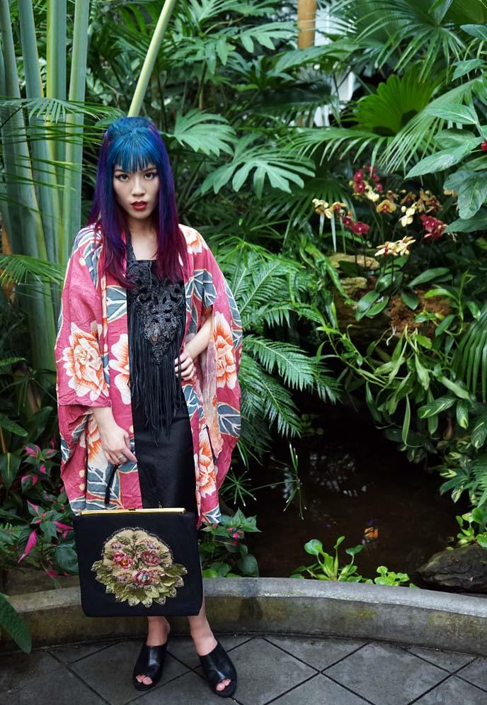 japanese kimono model, fashion