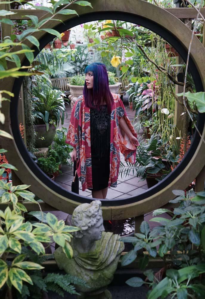 flower kimono robe