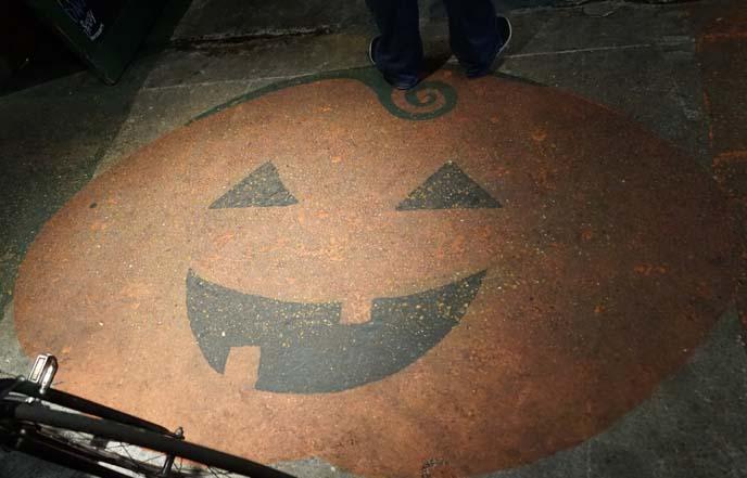 pumpkin floor painting