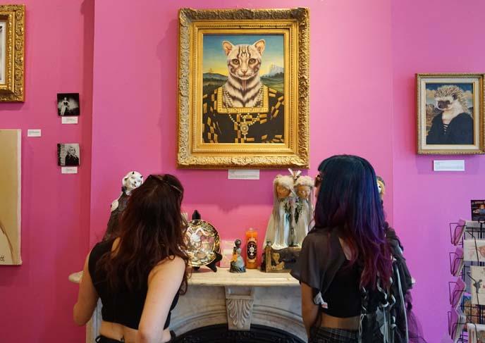 weird scary art gallery