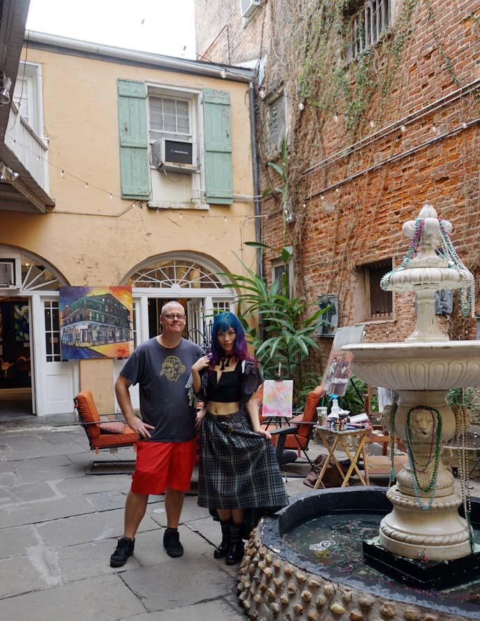 new orleans fountain courtyard