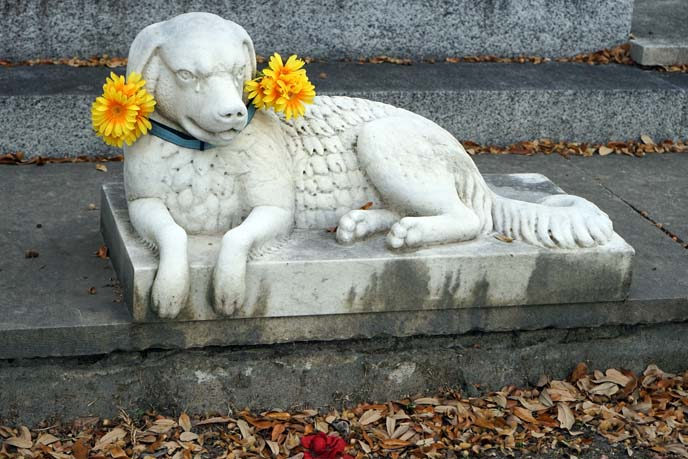 dog guarding burial tomb