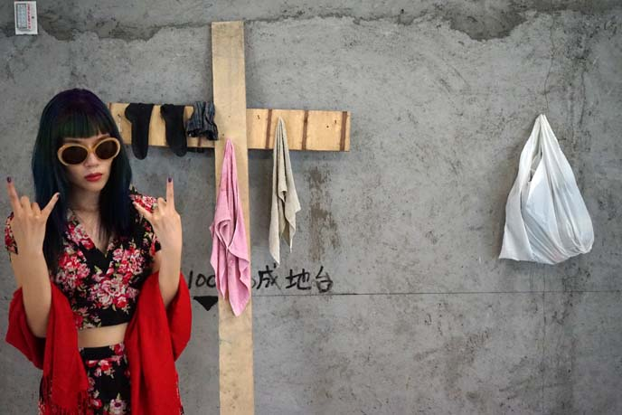 nails on big wood cross