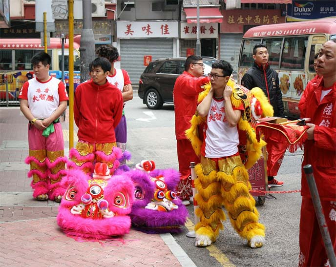 china lion dancers