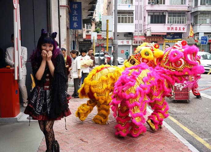 hong kong lion dance