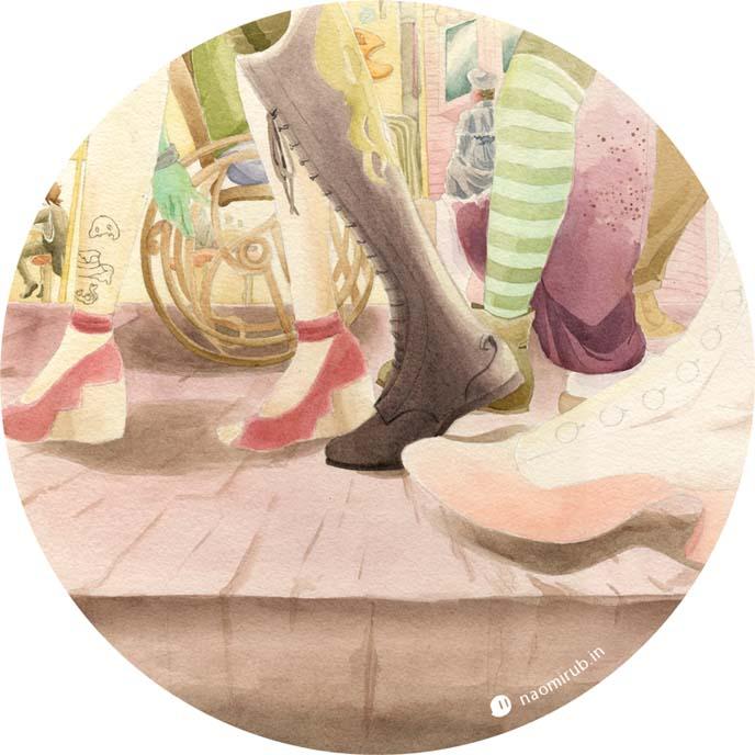 goth steampunk shoes art