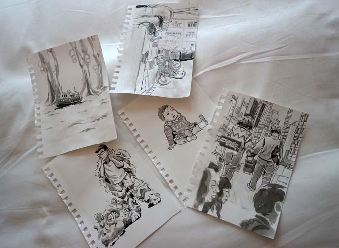 hong kong people sketches