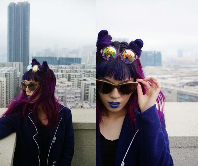 h0les prism crystal round sunglasses