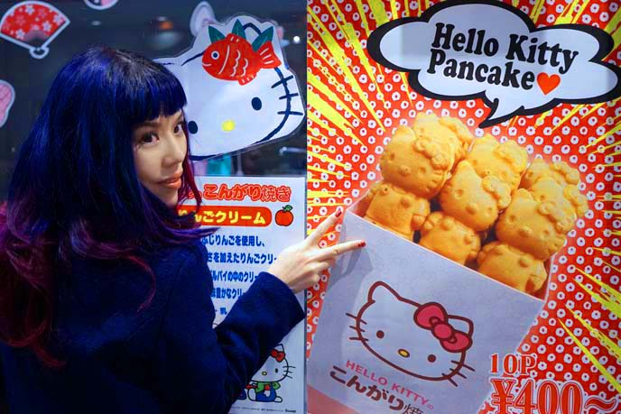 hello kitty pancake, food