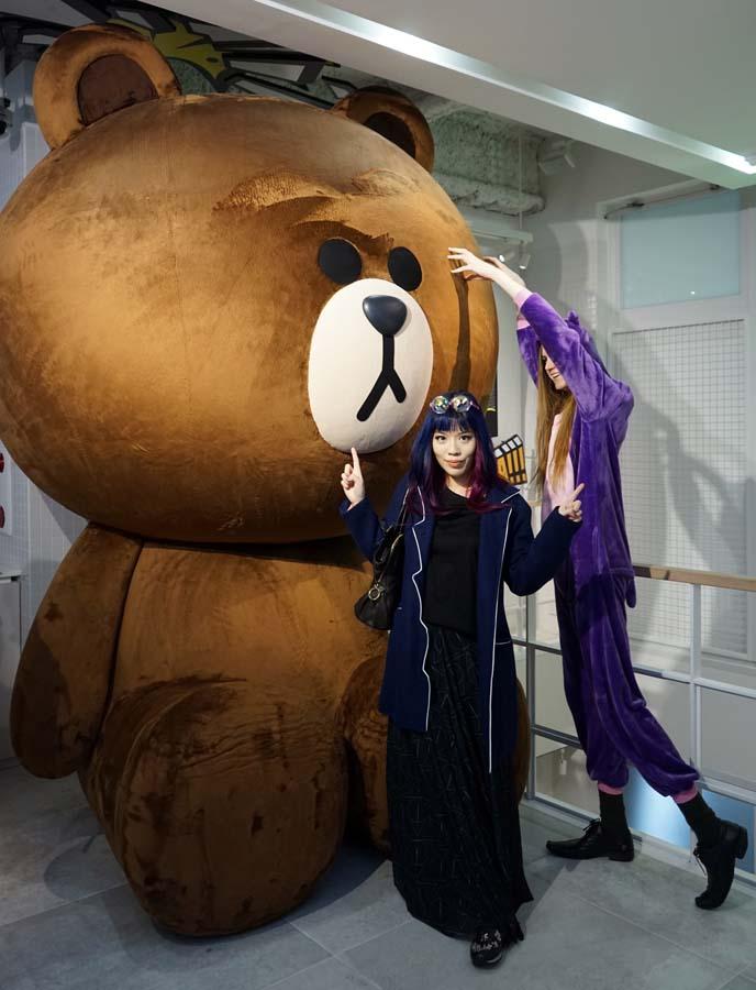 giant stuffed line friends brown bear