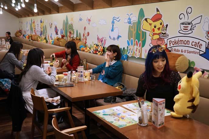 pokemon pikachu theme cafe, tokyo japan