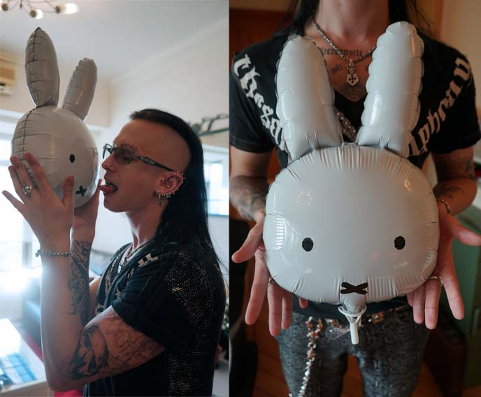 bunny face balloon