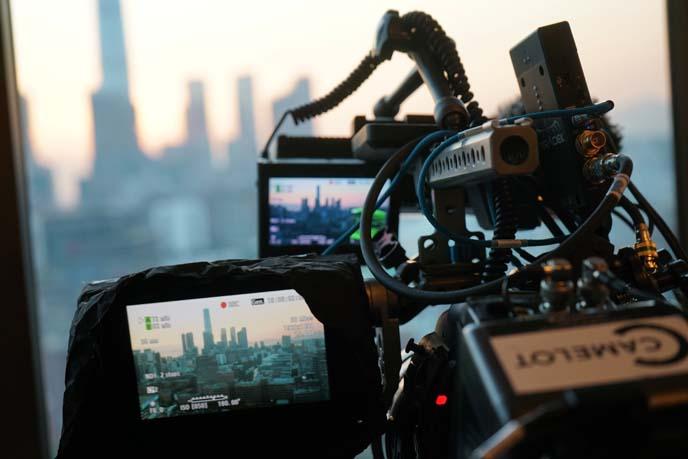 tv show filming equipment cameras