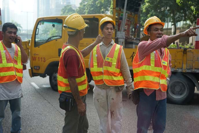 hong kong construction workers