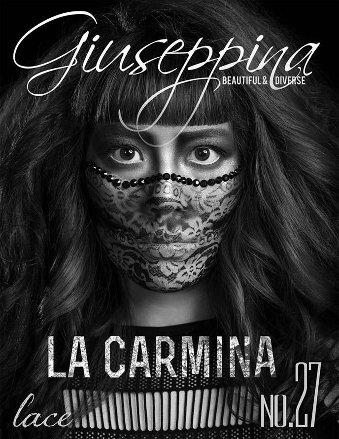 giuseppina magazine cover, la carmina