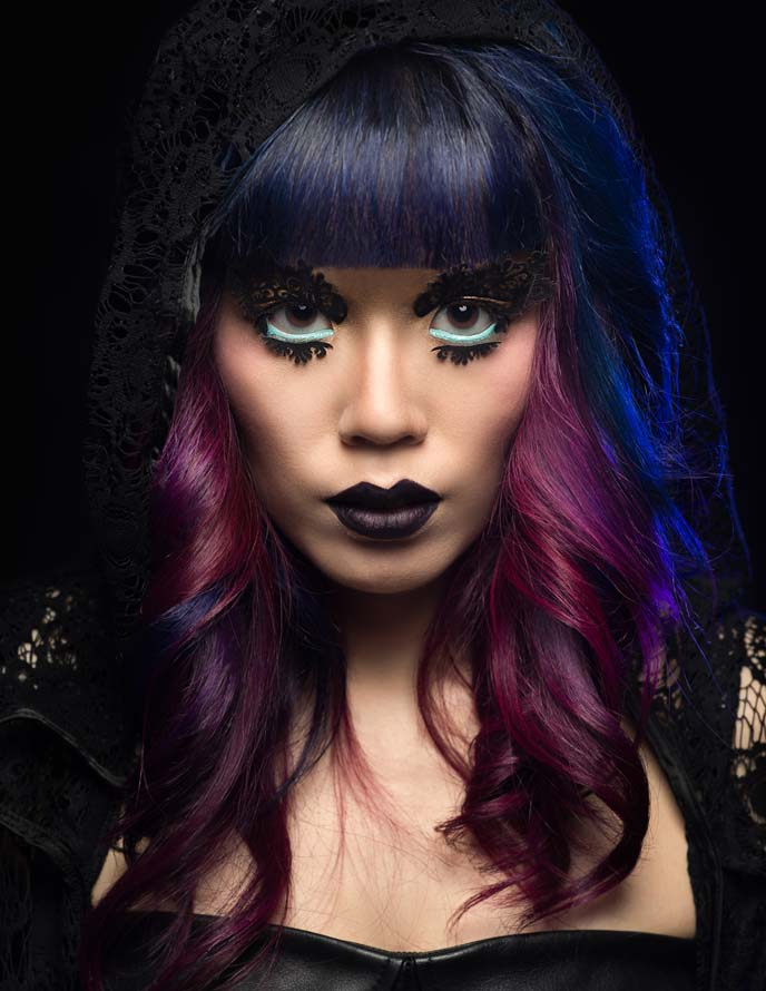 goth fashion beauty editorial