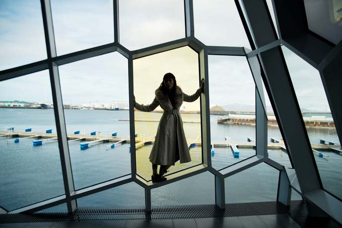 harpa glass panels photoshoot