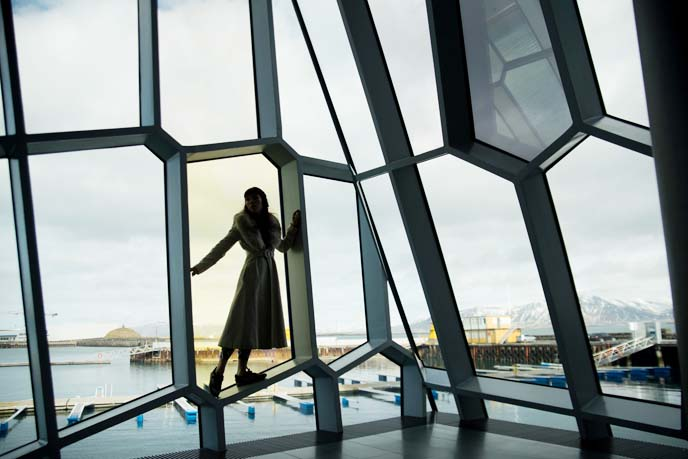 harpa music hall glass windows