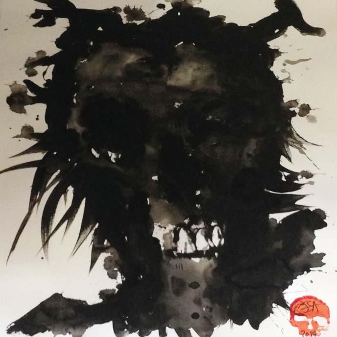 skull art, reyjkavik artist