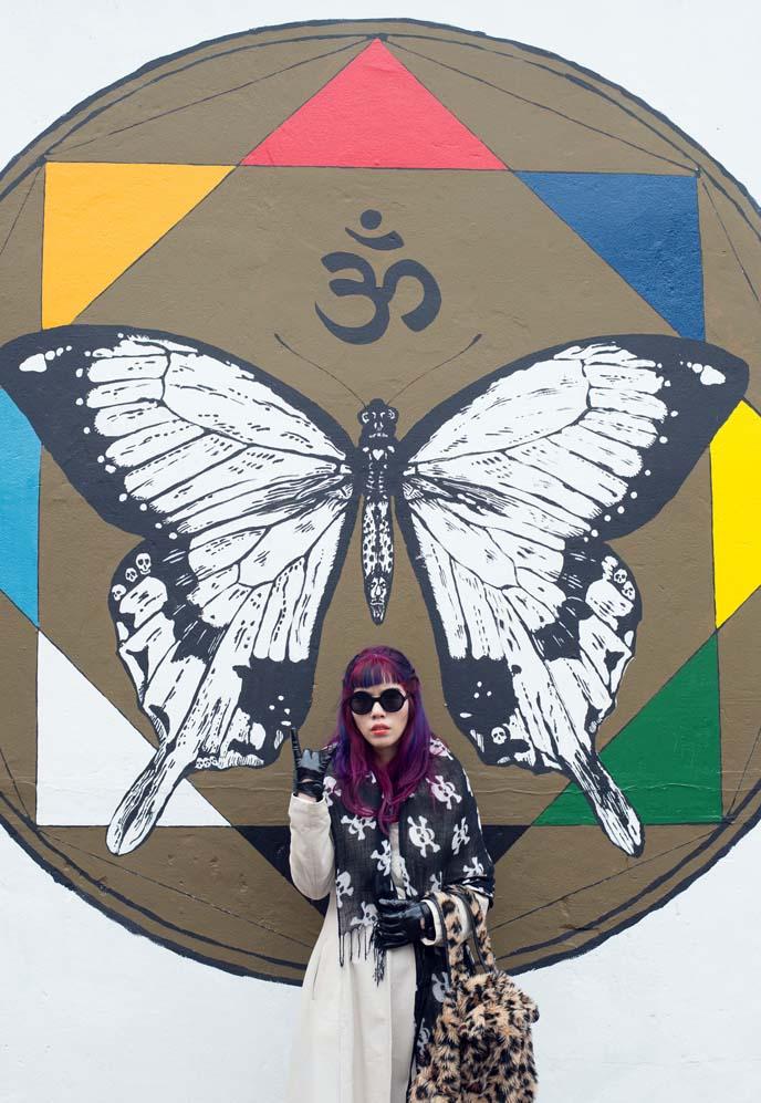 mandala mural, om sanskrit buddhism