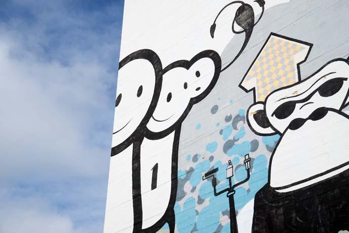 cool mural, london police, reykjavik