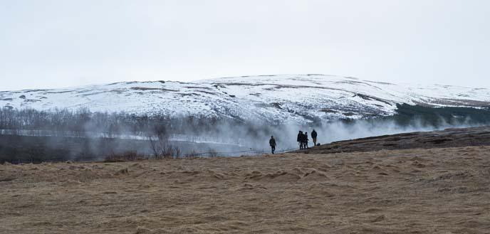 iceland geysir, hot springs