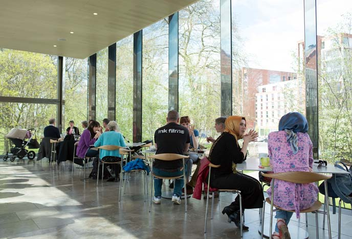 whitworth cafe in the trees, museum restaurant