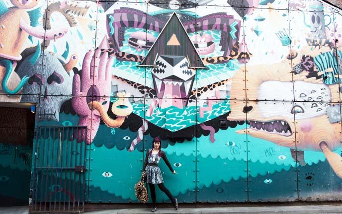 New Wakefield Street wall murals