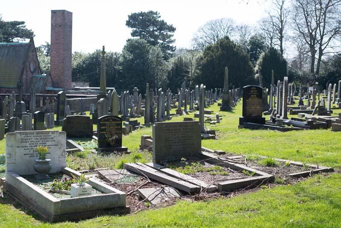 ian curtis crematorium, cemetery