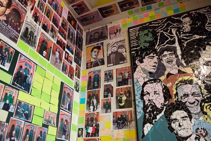 ian curtis mural, tiles