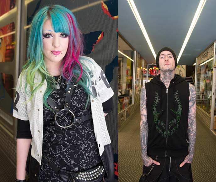 cyberdog models, rave hair