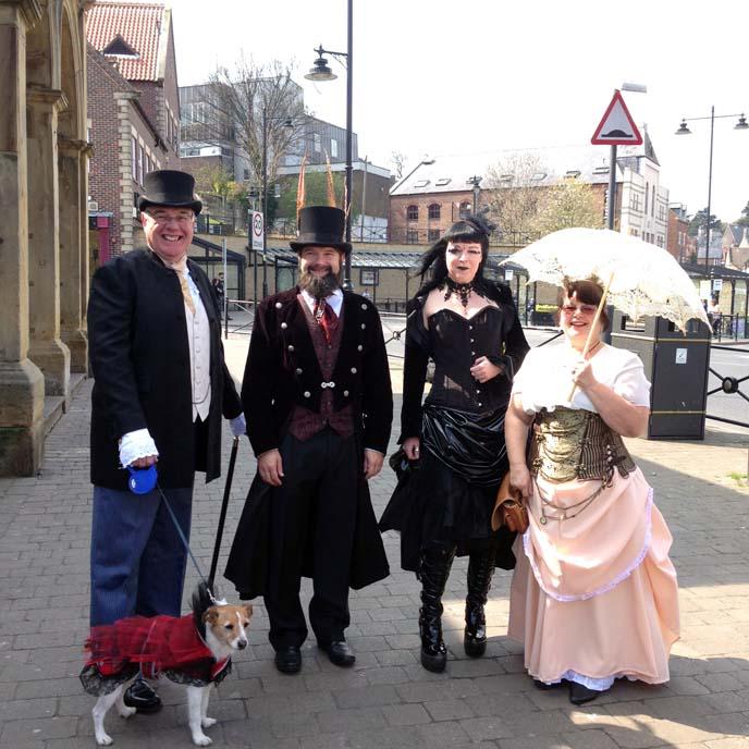 goth dog costume, victorian goths