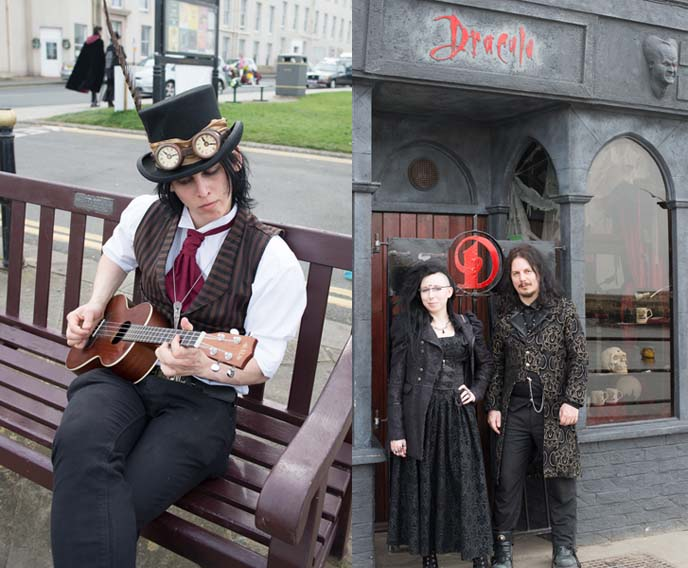 dracula clothing, steampunk top hat