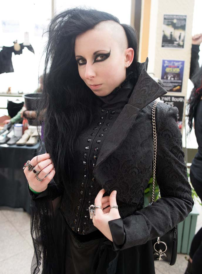 deathrock shaved hair, goth hairstyle