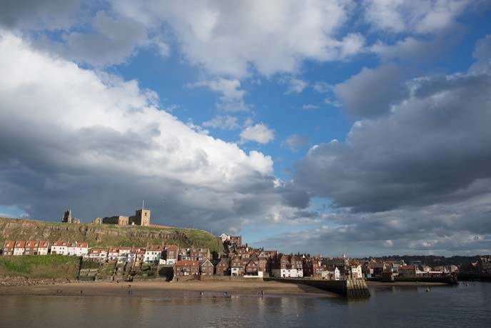 whitby gothic landscape, sea