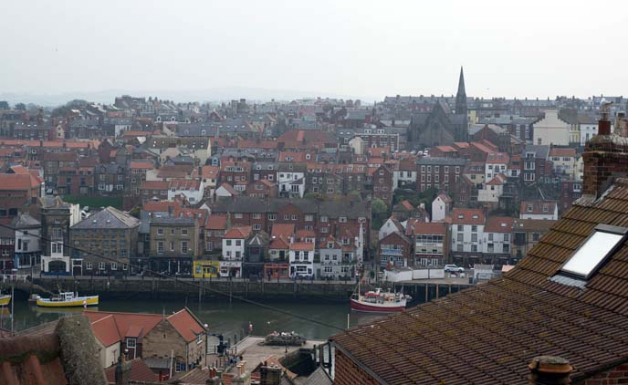 whitby uk cityscape, scenery