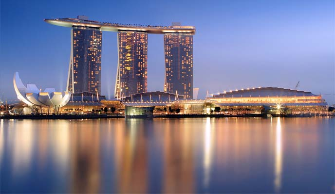 singapore marina bay sands view, skyline