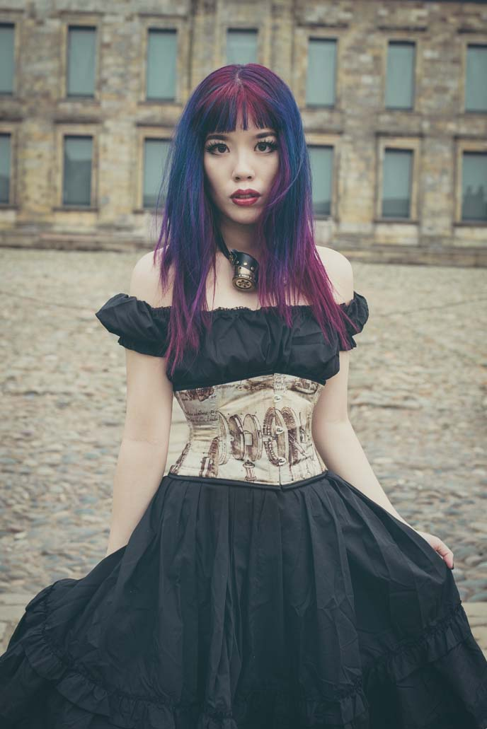 steampunk model, corset