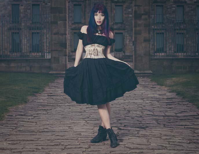 goth magazine cover model