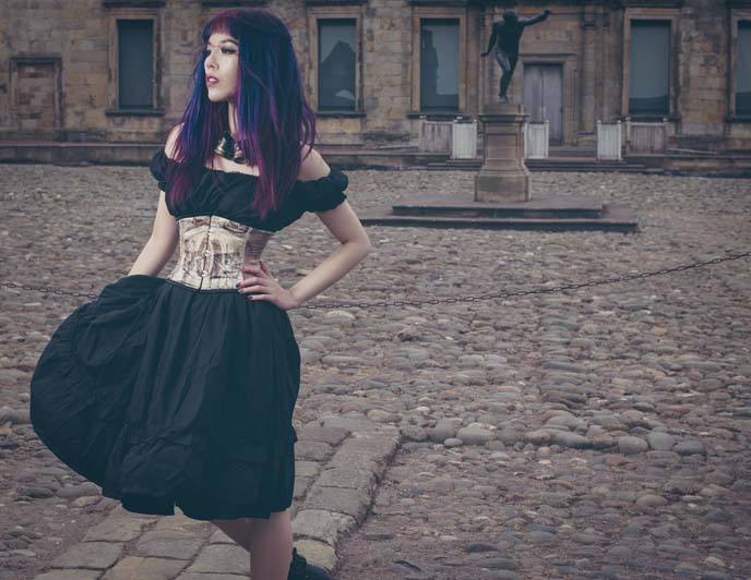 goth editorial fashion shoot