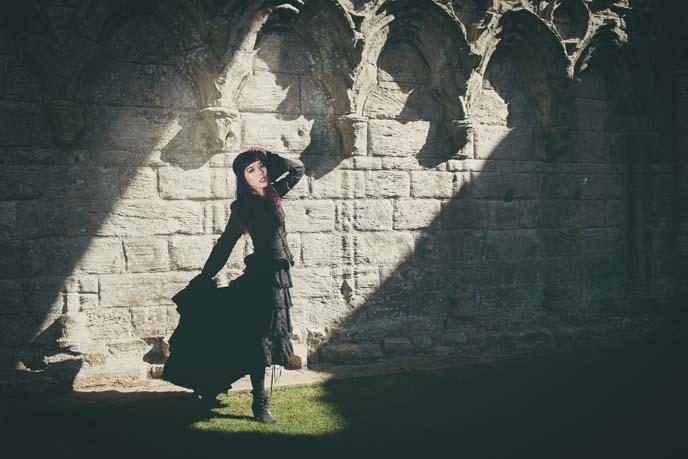 vampire photoshoot, england