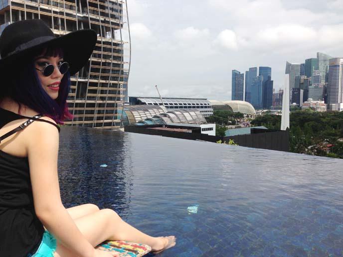 naumi hotel infinity pool, rooftop