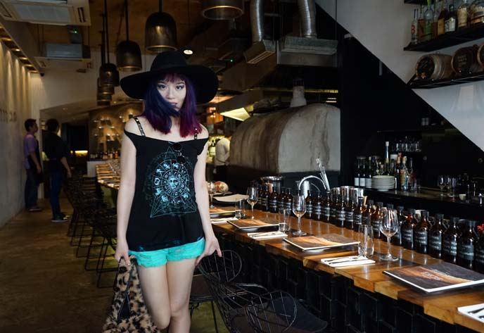 singapore bar, zodiac tank top