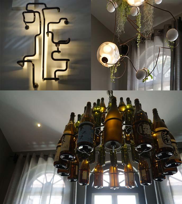 bottles chanderlier, modern lights
