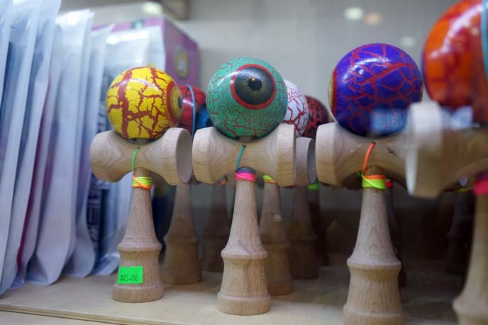 kendama asian yoyo, eyeball toys