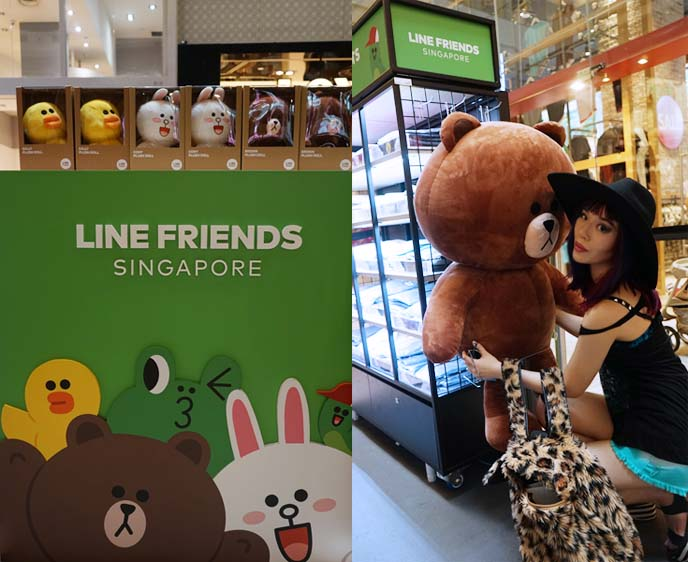 singapore line friends shop