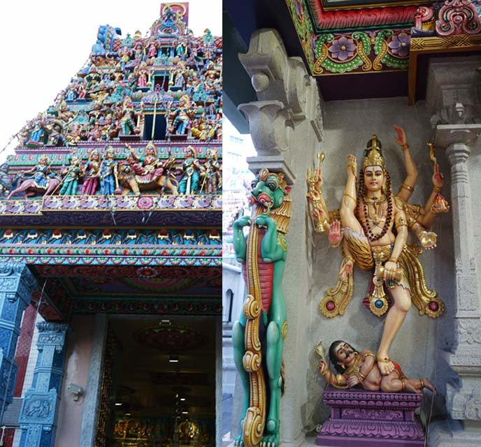 colorful hindu temple statues singapore