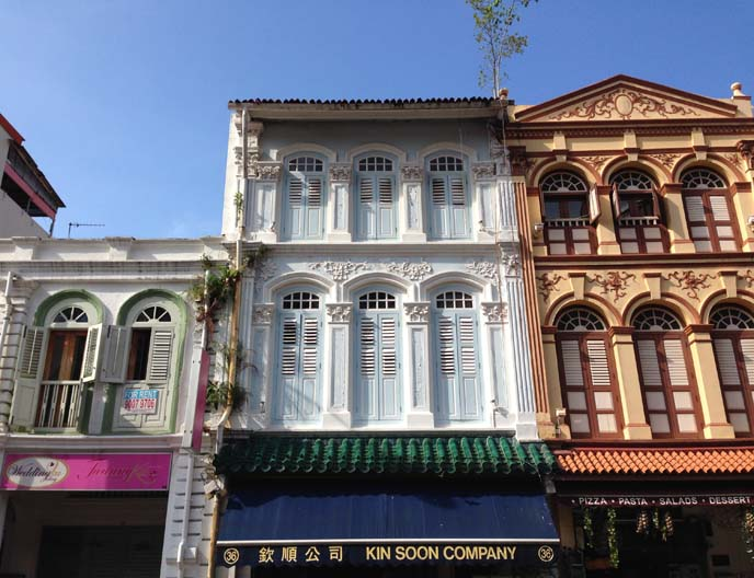 singapore colonial buildings, facades