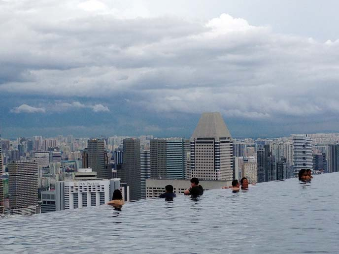 marina bay sands infinity pool, swimming pool