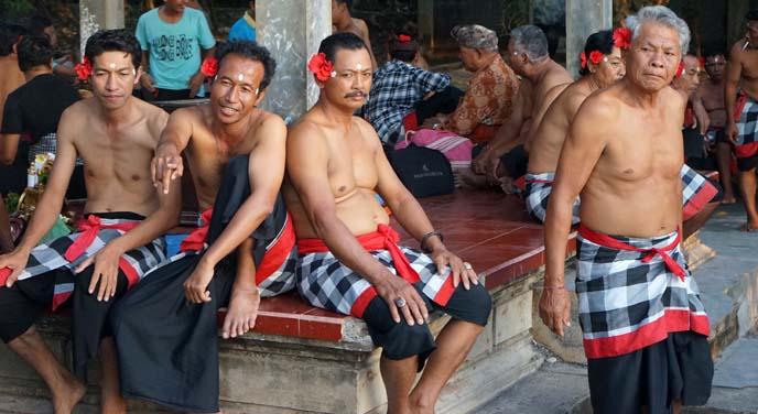 indonesian men wearing flowers